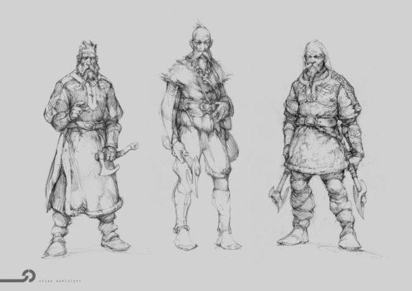 3 guerriers Vikings